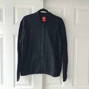 Nike Sportswear Tech Knit Black Bomber Jacket